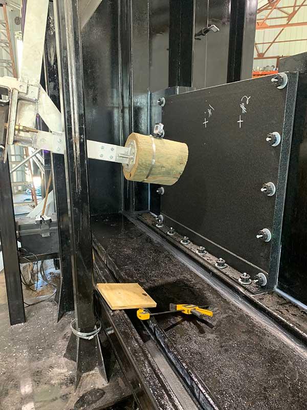 flood panel water seepage and impact testing